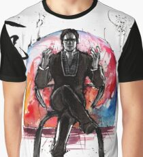 Illusive Man from Mass Effect with calligraphy Graphic T-Shirt