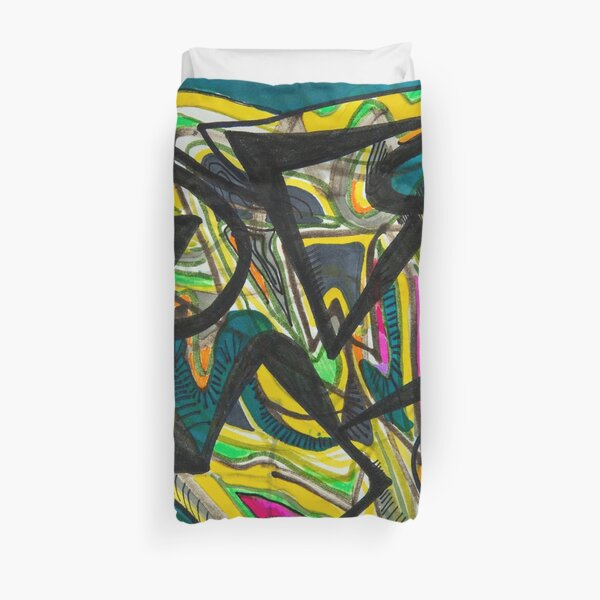 Multicoloured abstract design Duvet Cover