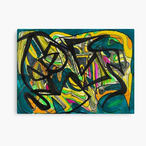 Multicoloured abstract design Canvas Print