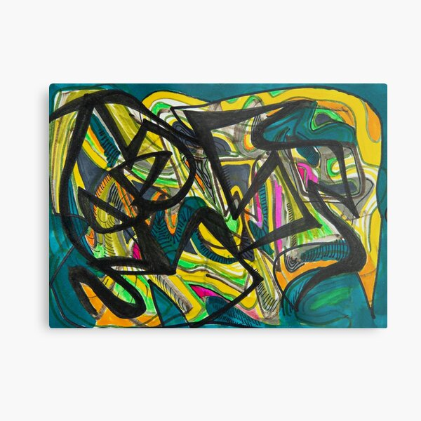 Multicoloured abstract design Metal Print