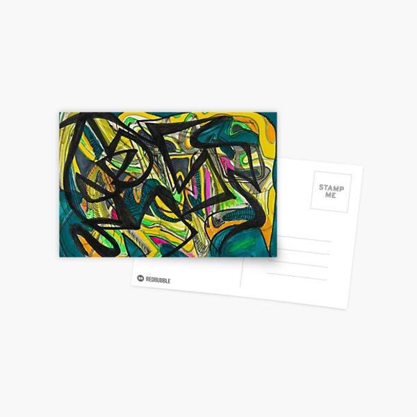Multicoloured abstract design Postcard
