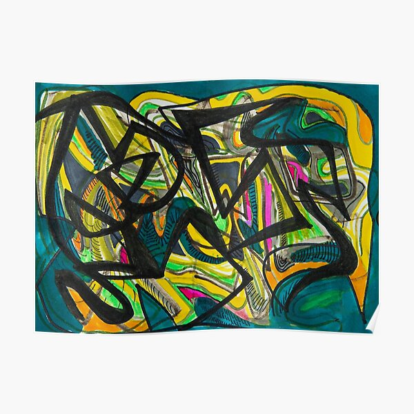 Multicoloured abstract design Poster