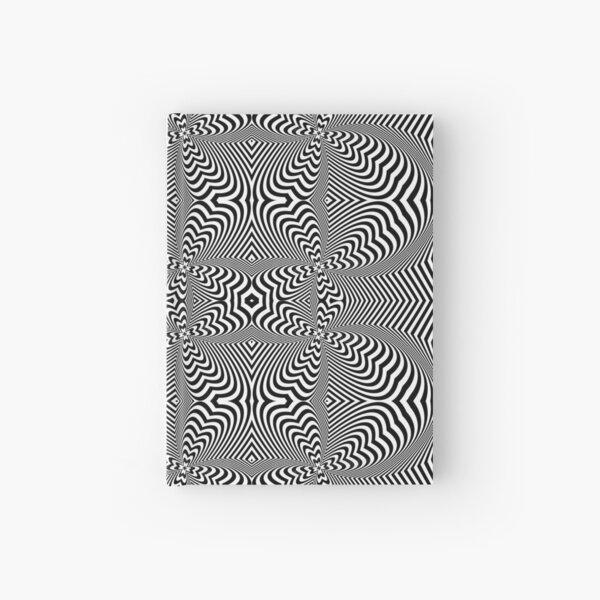 Psychogenic, hypnotic, hallucinogenic, black and white, psychedelic, hallucinative, mind-bending, psychoactive pattern Hardcover Journal
