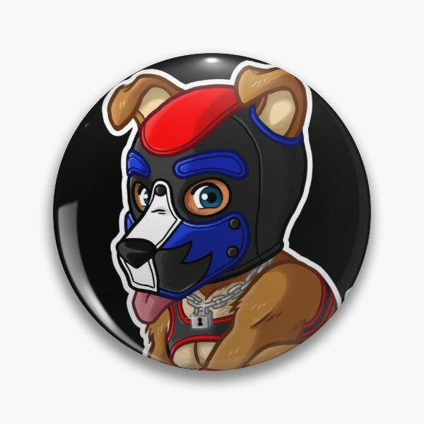 PLAYFUL PUPPY - BLUE RED MASK - BEARZOO SERIES Pin