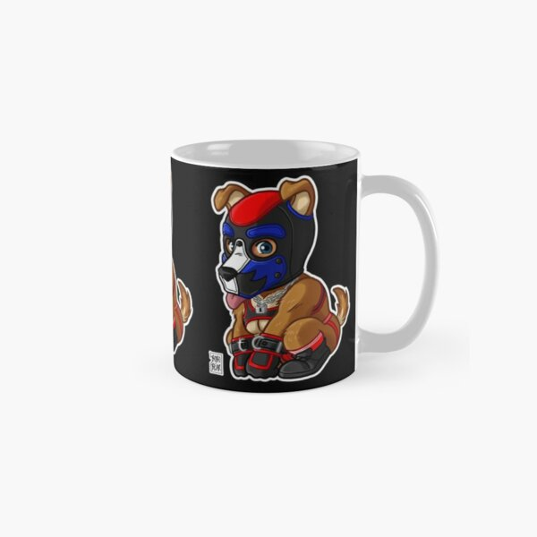 PLAYFUL PUPPY - BLUE RED MASK - BEARZOO SERIES Classic Mug