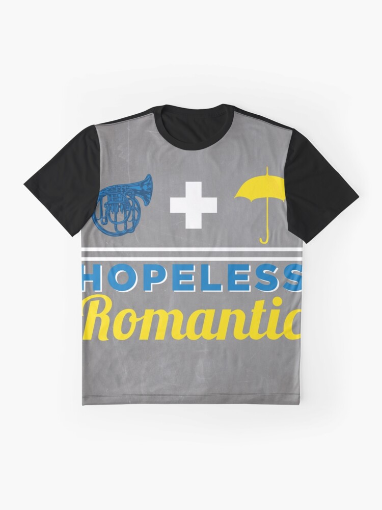 Vista alternativa de Camiseta gráfica Romántico empedernido