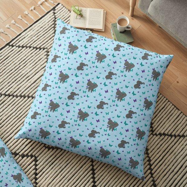Chill baby elephants Floor Pillow