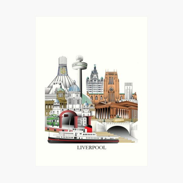 Liverpool City, UK Art Print