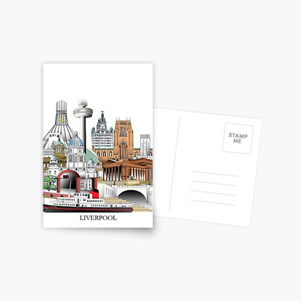 Liverpool City, UK Postcard