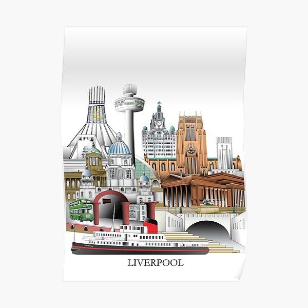 Liverpool City, UK Poster