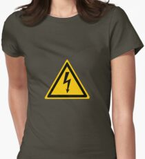 High voltage Womens Fitted T-Shirt