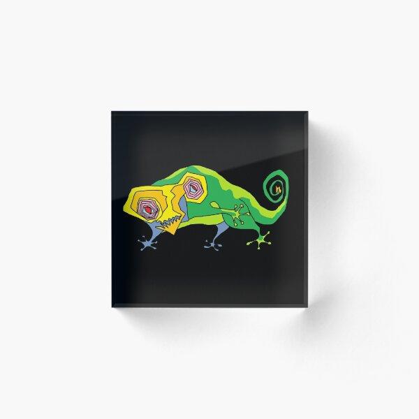 Safari personaje increíble criaturas camaleón Baby