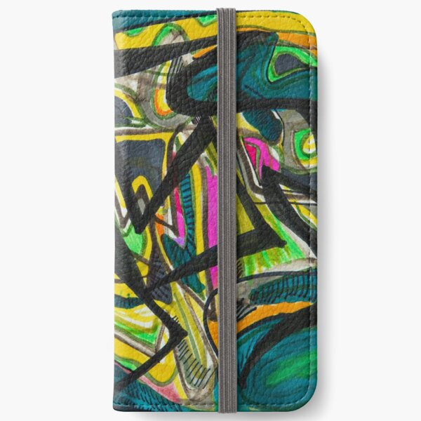 Multicoloured abstract design iPhone Wallet
