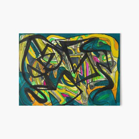 Multicoloured abstract design Art Board Print