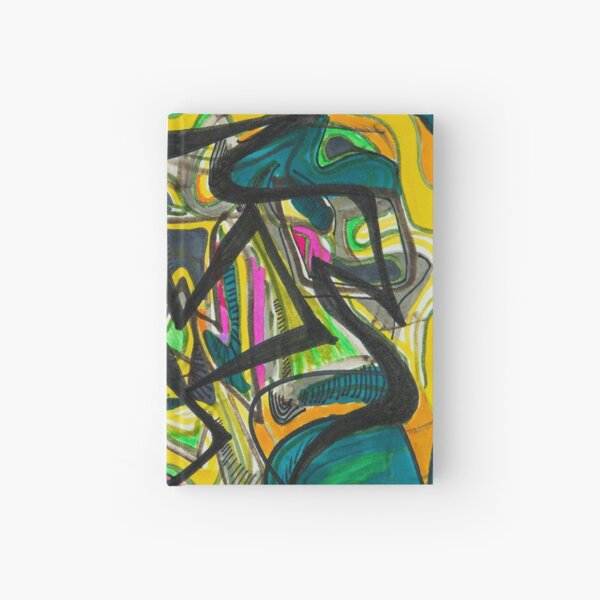 Multicoloured abstract design Hardcover Journal