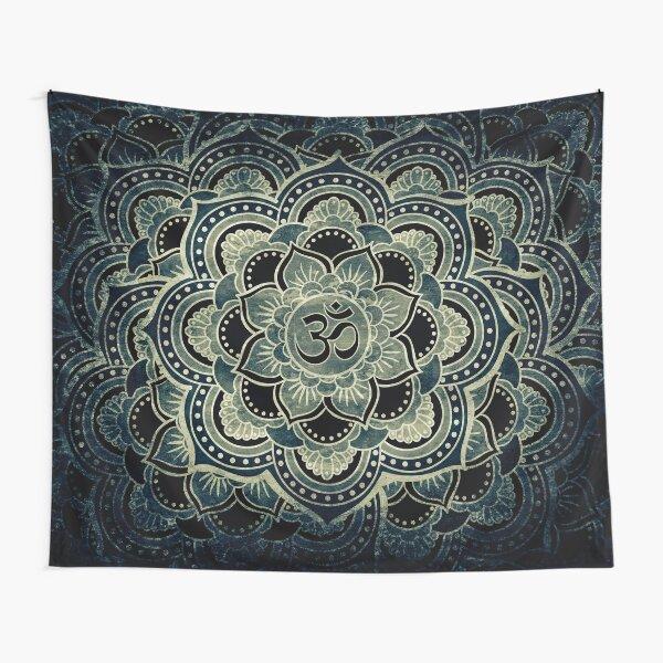 Sacred ohm symbol-dark Tapestry