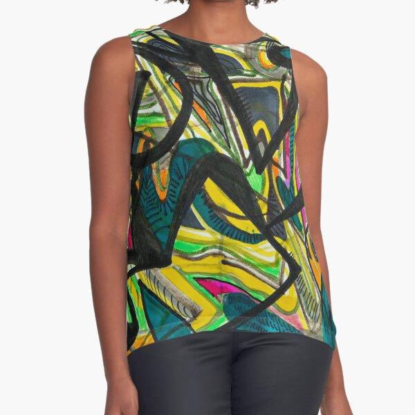 Multicoloured abstract design Sleeveless Top