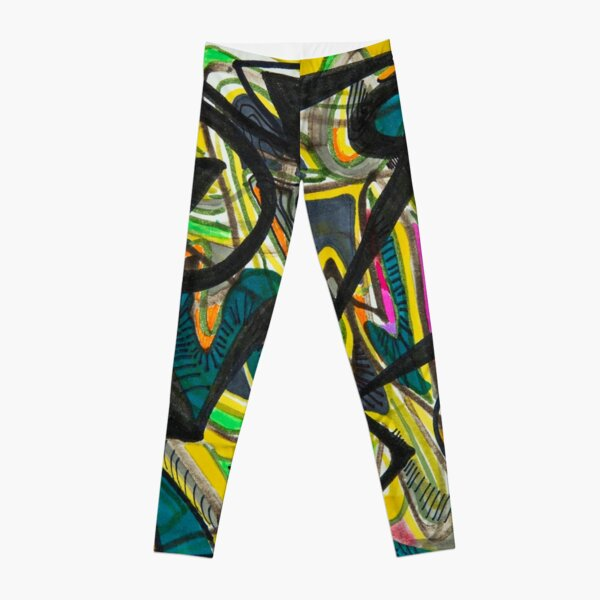 Multicoloured abstract design Leggings