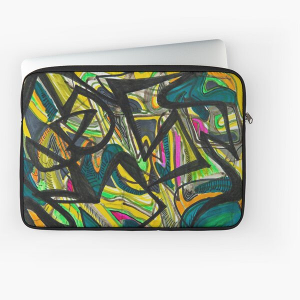 Multicoloured abstract design Laptop Sleeve