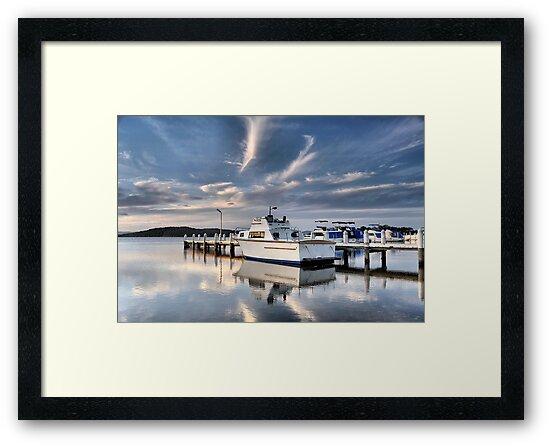 Swansea Wharf - Swansea NSW Australia by Bev Woodman