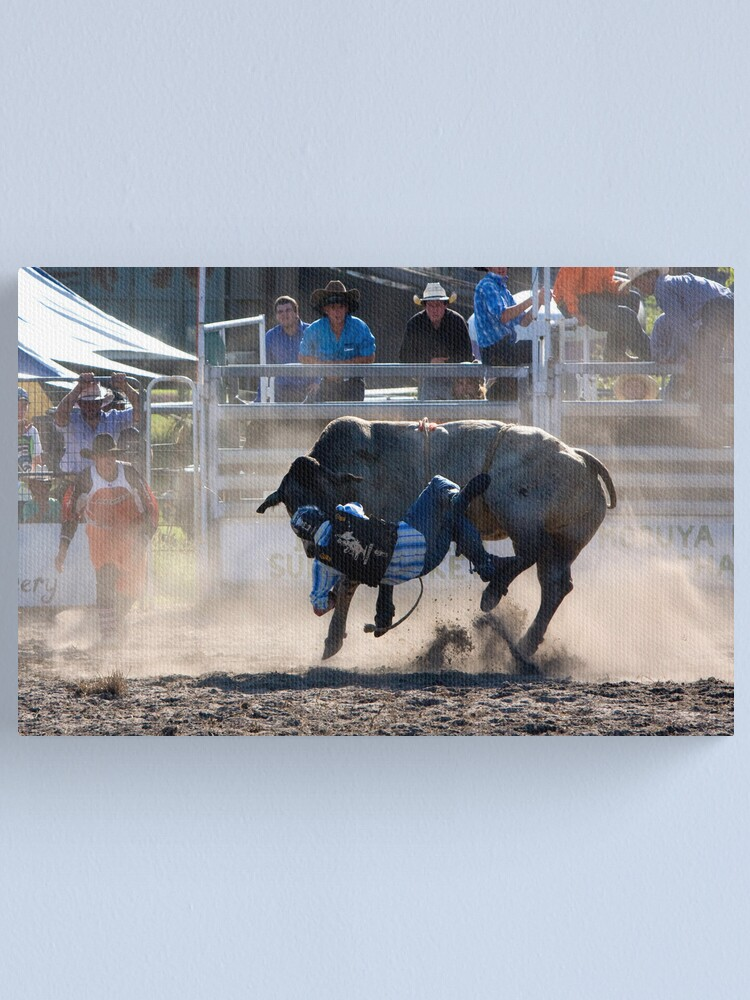 Alternate view of Moruya Rodeo New Years Day 2012 Canvas Print