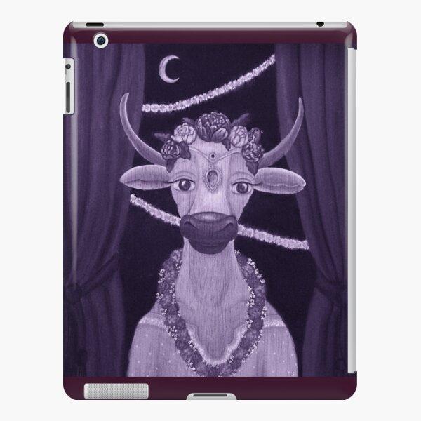 Vintage Cow Bride with Aquamarine Gemstone Indian Headpiece iPad Snap Case