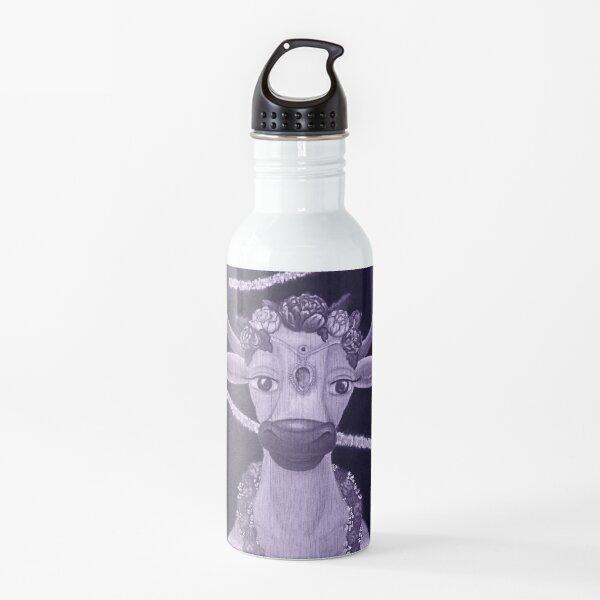 Vintage Cow Bride with Aquamarine Gemstone Indian Headpiece Water Bottle