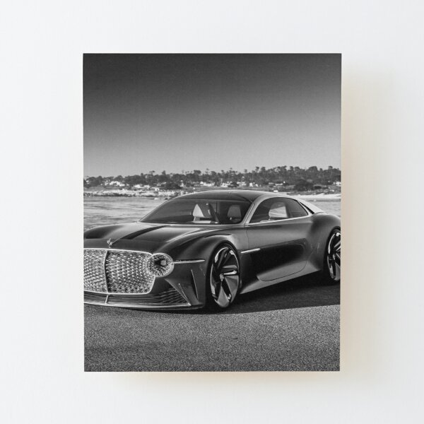 The Future of Luxury Motoring Wood Mounted Print