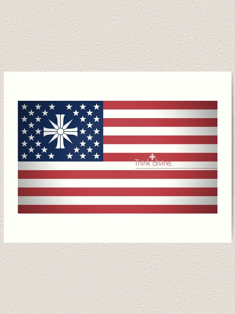Far Cry 5 Us Flag Art Print By Hahol Redbubble
