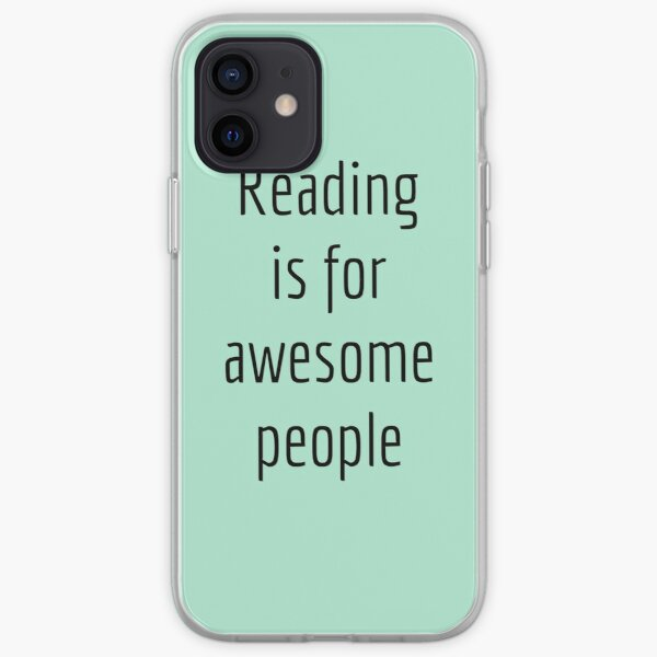 Reading is for awesome people iPhone Soft Case
