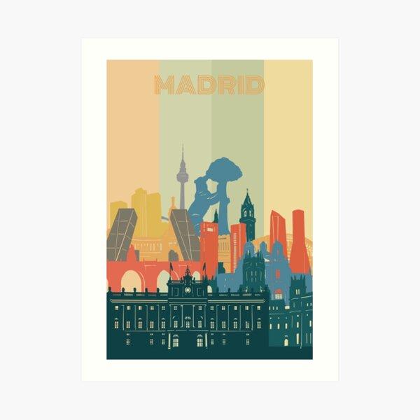 madrid skyline Art Print