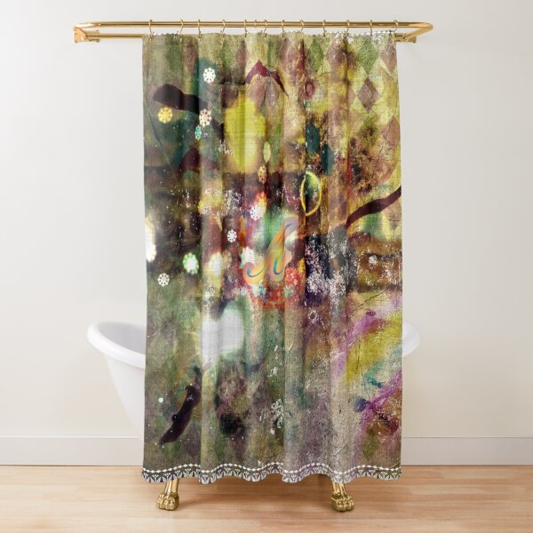Letter Shower Curtain