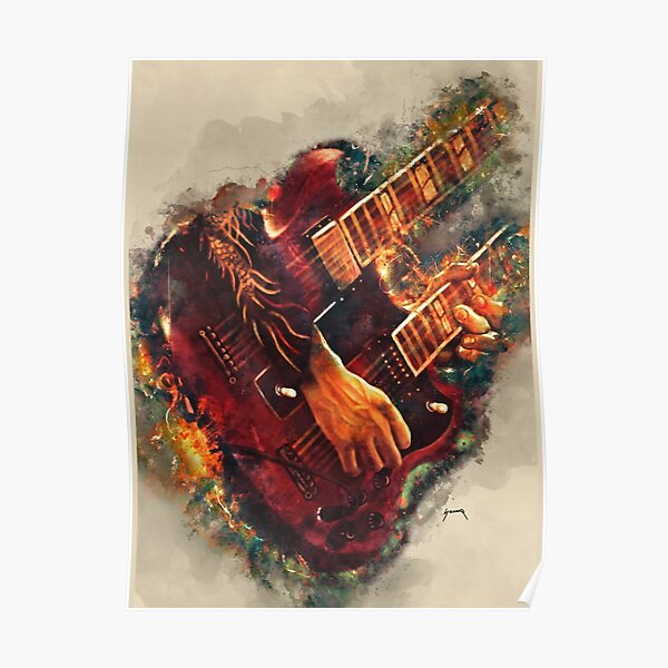 Jimmy Page Guitar Poster