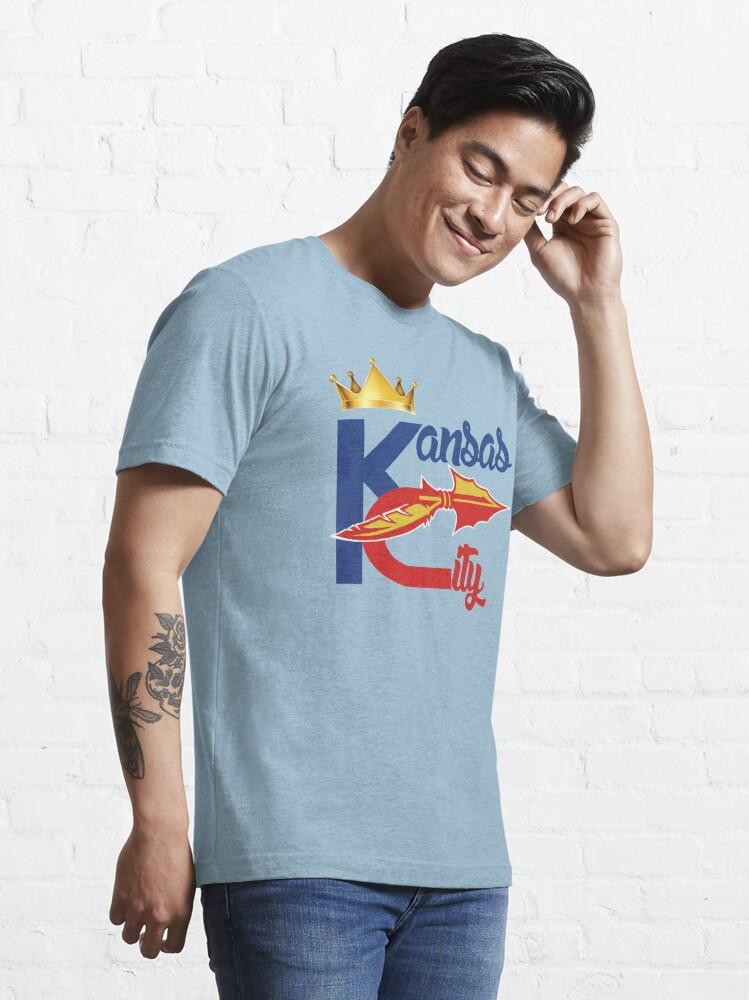 Alternate view of Kansas City Sports Hybrid Fan Gift design Essential T-Shirt