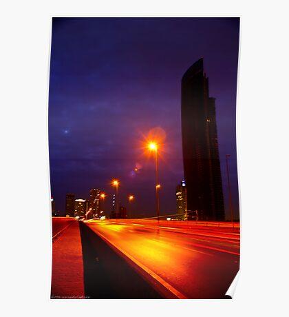 Lightstreeks Crossing Bridge Poster