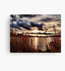 Yeadon Tarn Sunset Canvas Print
