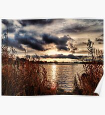 Yeadon Tarn Sunset Poster