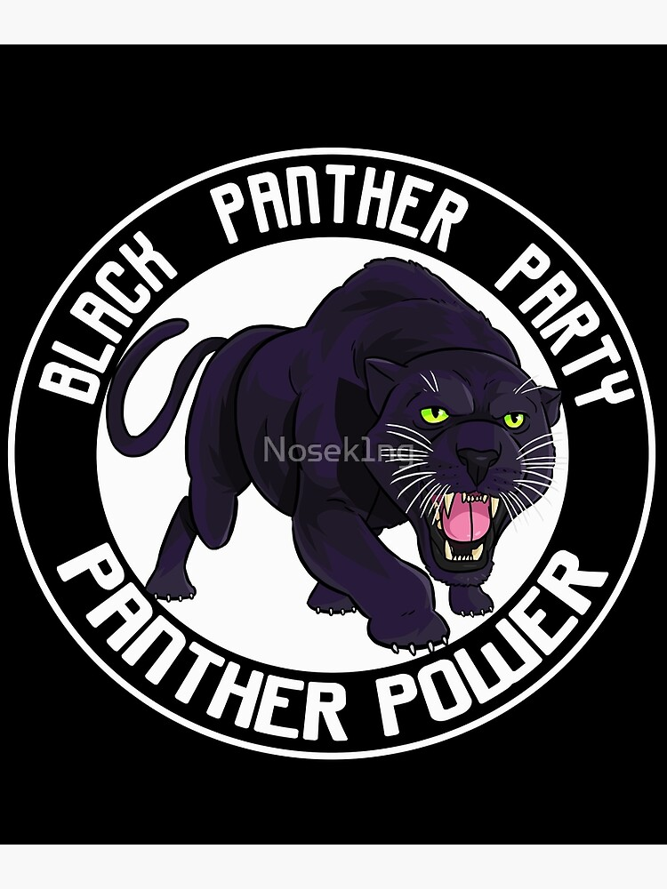 """""""Black Panther Party Logo"""" Poster by Nosek1ng   Redbubble"""