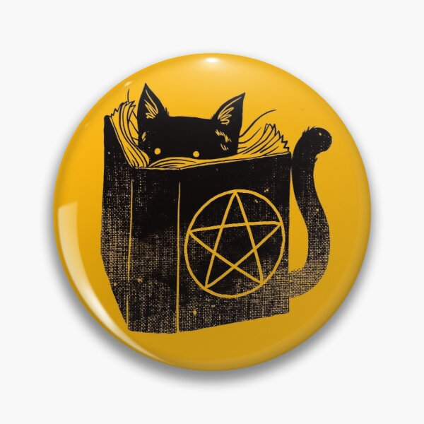 witchcraft cat Pin