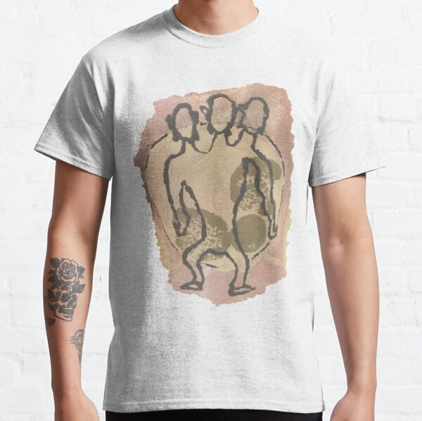 Three-Headed Monkey Ancient Cave Painting Classic T-Shirt