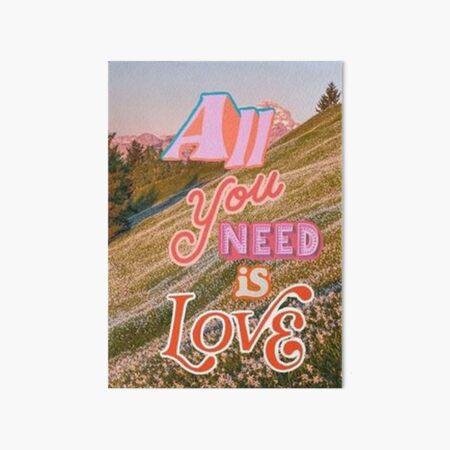 Alles was Sie brauchen ist Liebescollage Galeriedruck