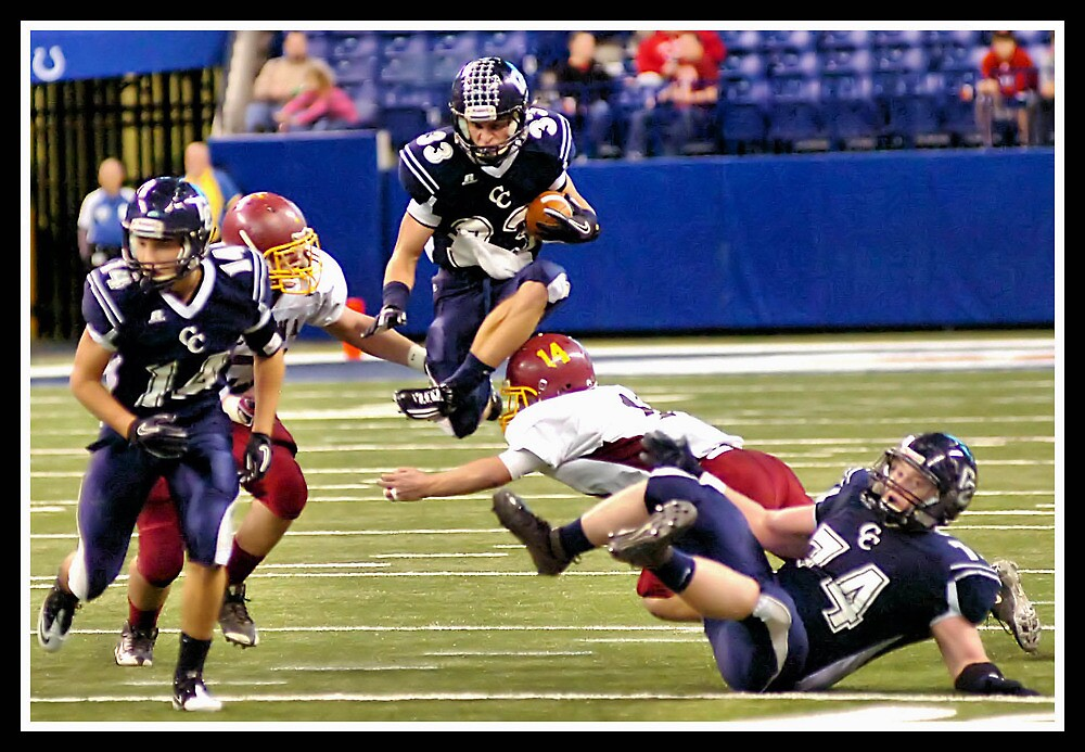 Class 1A Lafayette Central Catholic vs Indianapolis Scecina 7 by Oscar Salinas