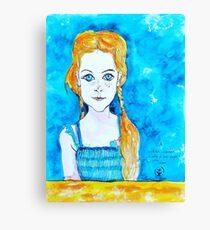 Blue Eyed Mia Canvas Print