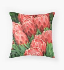 Protea, pink and pretty Throw Pillow