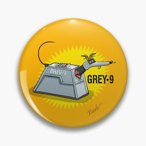 Grey 9: pin button badge Pin