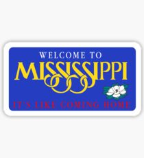 Welcome to Mississippi, Road Sign, USA  Sticker