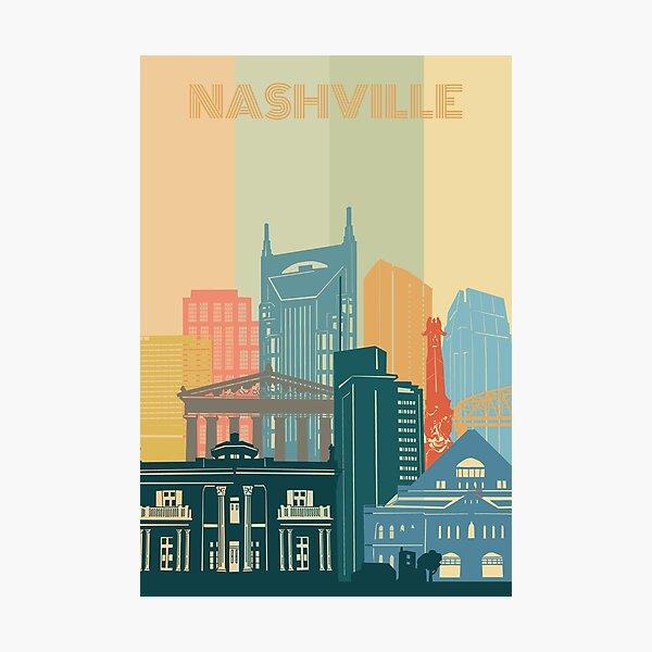 nashville skyline Photographic Print