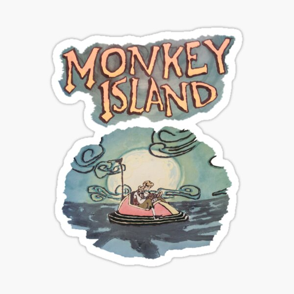 Guybrush Threepwood lost at sea  Sticker