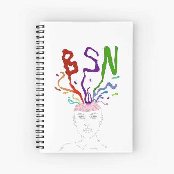 Exploding Head  Spiral Notebook