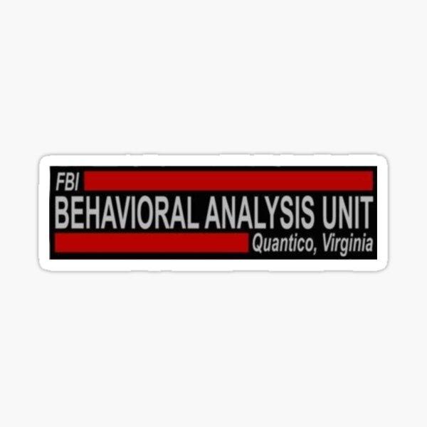 behavioral analysis unit Sticker